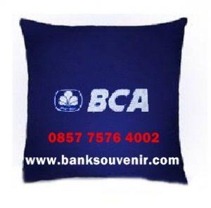 Bantal Kotak Souveenir Bank BCA