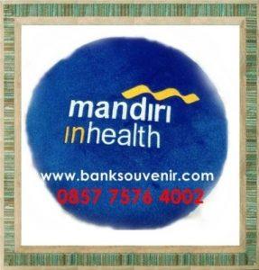 Bantal Bulat Souvenir Bank Mandiri