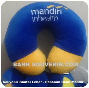 Bantal Leher Bank Mandiri