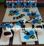 Karpet Karakter Lebah Nama Custom