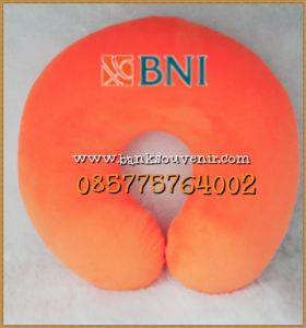 Bantal Leher Souvenir Bank BNI