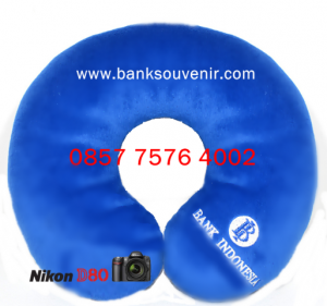 Bantal Leher Souvenir Bank Indonesia