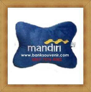 Bantal Tulang Souvenir Bank Mandiri