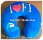 Bantal Leher Promosi First Travel