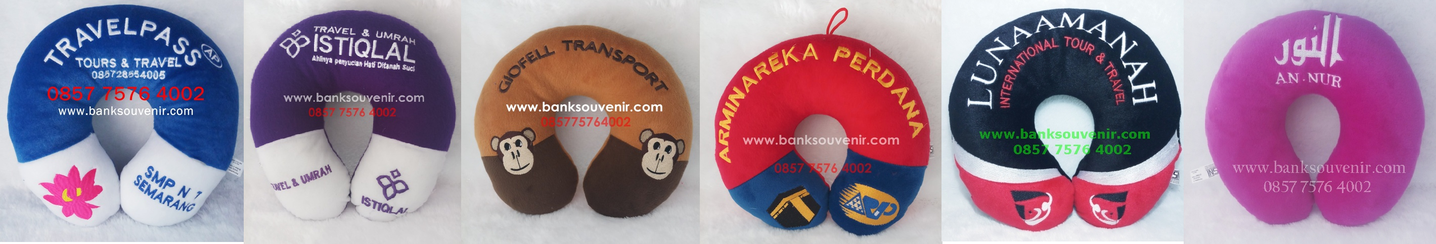 souvenir bantal leher tour travel