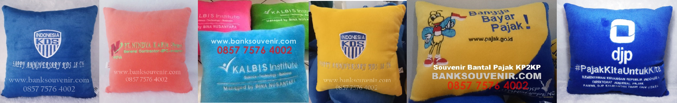 souvenir bantal sofa custom