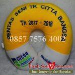 Bantal leher souvenir TK Citta Bangsa