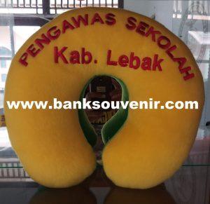 Bantal Leher Souvenir Sekolah Custome