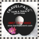 Bantal Leher Promosi Travel Pass Black