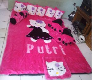 Karpet Karakter Hello Kitty Custom Nama