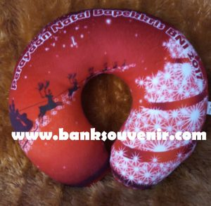 Bantal Leher Natal Printing Custom