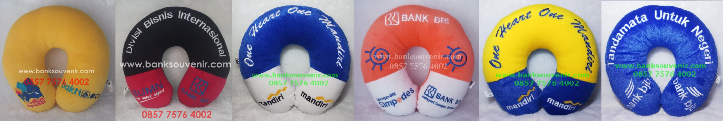 Bantal Leher Souvenir Bank