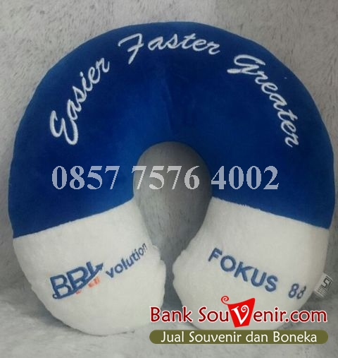 Bantal leher souvenir Bank BRI – BRI volution – Fokus 88