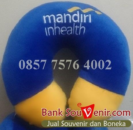 bantal leher souvenir Bank Mandiri inhealth
