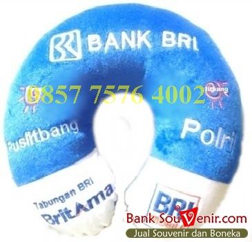 Bantal Leher Souvenir Bank BRI Polri