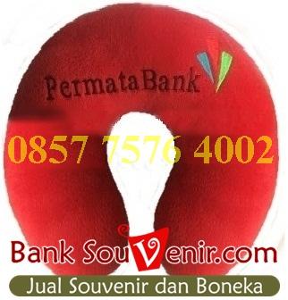 Bantal leher souvenir Bank Permata