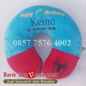souvenir bantal ultah Keino