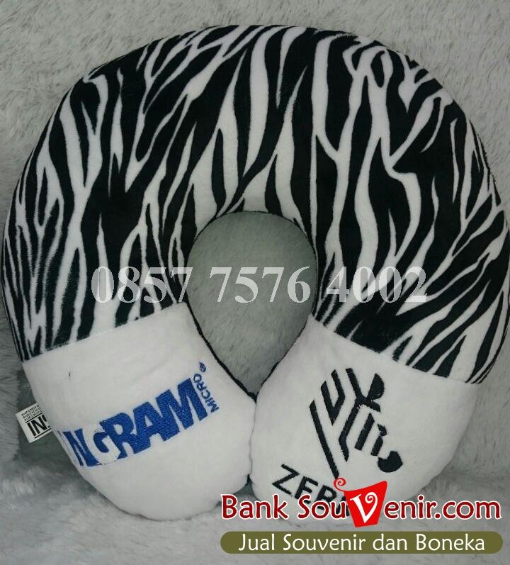 Souvenir Bantal Leher INGRAM Zebra
